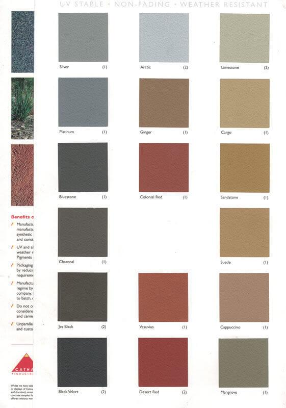 concrete driveway colours